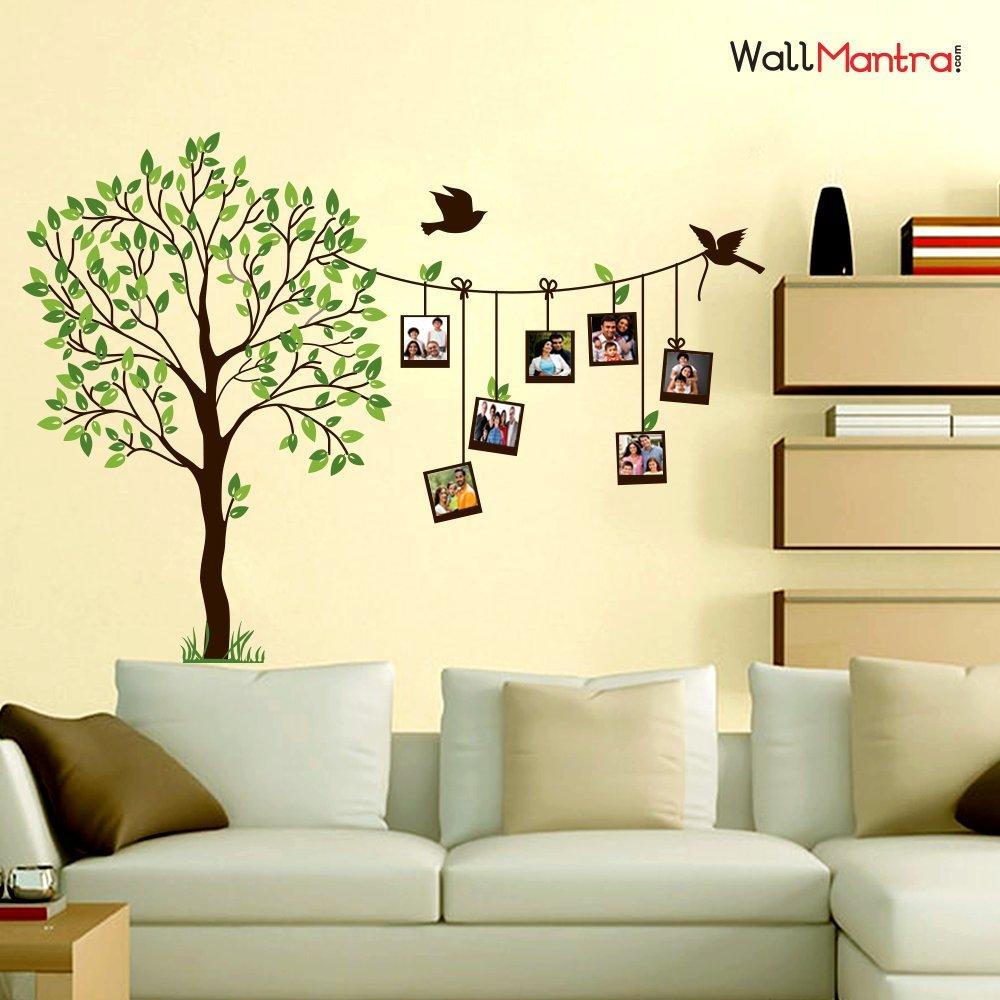 WallMantra Vinyl Self Adhesive Family Photo Frame Tree Wall Sticker ...