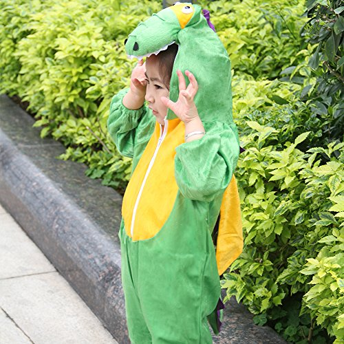 Children Party Costume Cartoon t-rex Costume Funny Clothes Performance Kids Dinosaur Cosplay Costume (M(Height 35.4''-41.3''/90cm-105cm), Dinosaur) by YOWESHOP (Image #6)