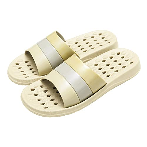 IVEKEN Hausschuhe Damen Slippe Herren Slipper Unisex Schuhe Für Frauen Anti-Rutsch-Hausschuhe Indoor-Boden Sandale Rosa Braun Dunkelblau Bad Slippers (39-40EU, Blau)