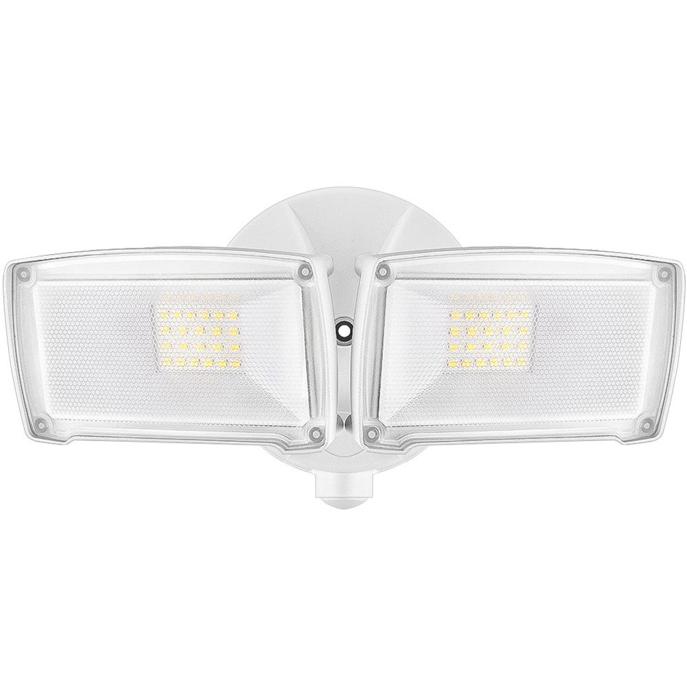 LEPOWER 2500LM LED Security Light, 22W Super Bright Outdoor Flood Light, ETL- Certified, 5500K, IP65 Waterproof, 2 Adjustable Heads for Entryways, Stairs, Yard and Garage(White Light)