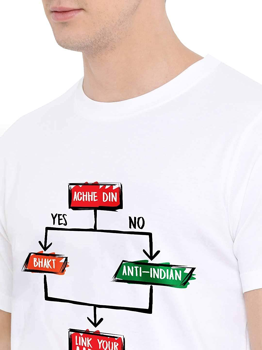 Fully Filmy Link Your Aadhaar Round Neck Cotton Unisex T