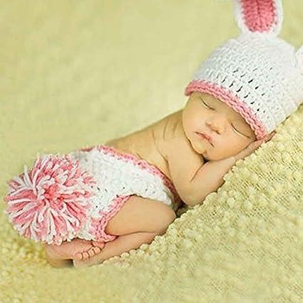 HAPPY ELEMENTS El nuevo conejo del conejito del bebé del ganchillo y ...