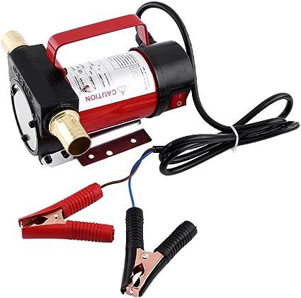 160 W bomba de extracci/ón de aceite Bomba de combustible 12 V bomba universal de gas/óleo velocidad de flujo m/áx.: 40 l//min. extractor de l/íquidos bomba de transferencia el/éctrica