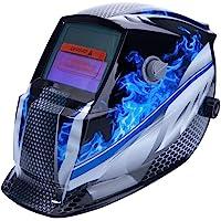 ALLOMN Máscara de Soldadura, Casco de Soldadura Solar Casco de Ajuste Montado en la Cabeza Oscurecimiento Automático…