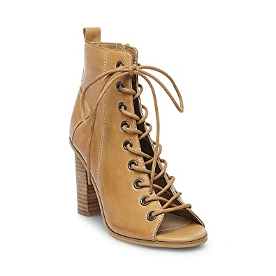 Womens Ruins Leather Open Toe Ankle Boots