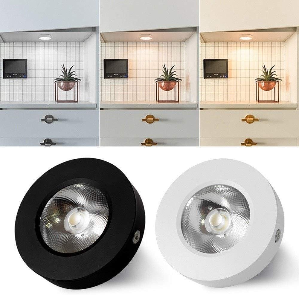 Sunny Lingt Ultrafino peque/ña superficie Proyector de montaje en techo del LED luz de techo Downlight simple MINIFOCOS 3000K COB luz caliente Color: Oro-7W Color : Negro energ/ética A ++