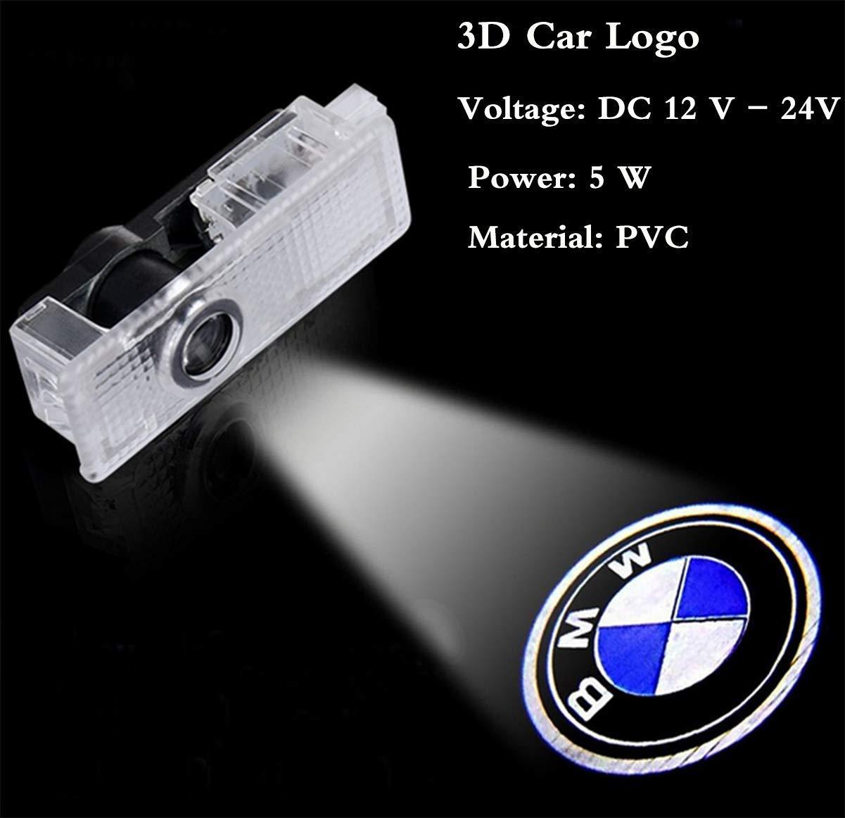 KKTICK Voiture Logo Projecteur 4 Pi/èces Lumi/ères de Porte Lumi/ères De Voiture LED Projecteur Voiture Logo Lumi/ère Auto Voiture la Lumi/ère de Bienvenue pour BMW