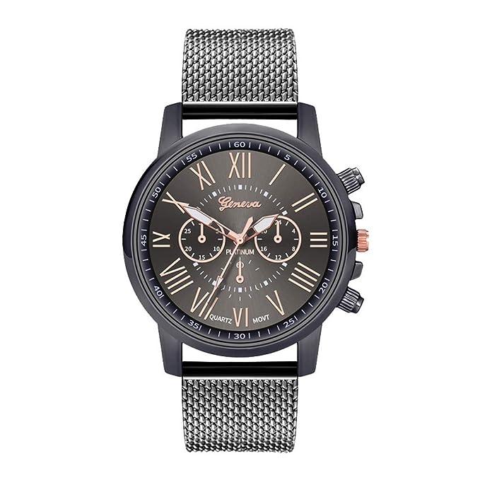 Amazon.com: Reloj de cuarzo con esfera de acero inoxidable ...