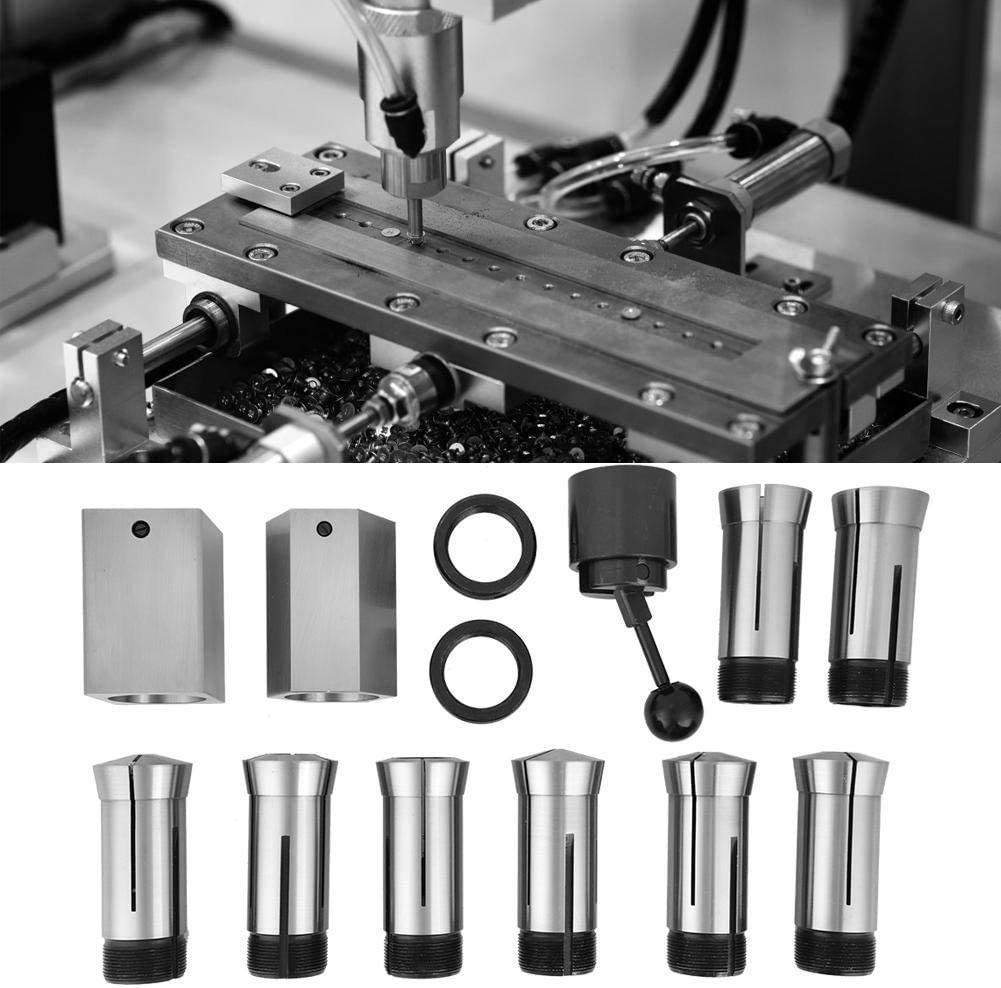 ZXY-NAN 5C Square//Hex Chuck Block Hardened Precision Tool Steel Collet Set 1//8-1 Collet Block Set for Milling Lathe Tool Workholding Collets Quick Setup