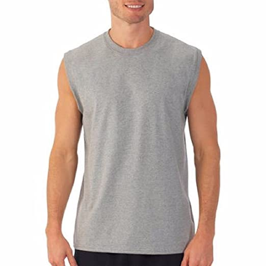 Hanesbrand Inc. Hanes Mens Sport Styling Cotton Sleeveless T-Shirts w/Cool Dri