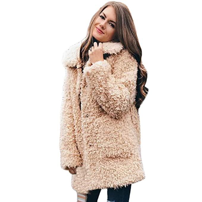 POLP Abrigos mujer de Invierno Mujer Calientes de Mujer Neck Warmer Chaqueta de Solapa Abrigo de
