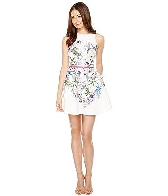 94061f6ca3c Amazon.com  Ted Baker Women s SAMM Passion Flower Skater Dress ...