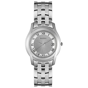 5d7fdb3c25f Image Unavailable. Image not available for. Color  GUCCI Men s YA055305  5500 Series Watch