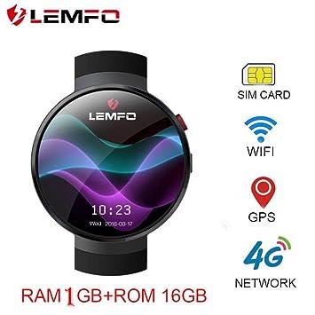 1fe63f186 2018 New LEMFO LEM7 Smart Watch 4G SIM GPS Heart Rate Monitor Cell Phone  Smartwatch Camera