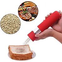 Pepper Grinder,Justdolife Salt Pepper Grinder ABS Plastic Battery Operated Pepper Mill Salt Grinder for Kitchen