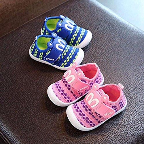 IGEMY Kleinkind Kinder Squeaky Schuhe Kinder Baby Cartoon Star Print Kaninchen Ohren Sneaker Rosa