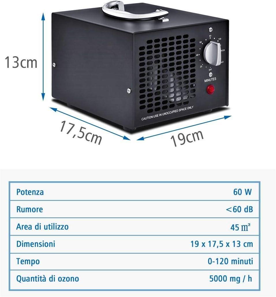 costway generador de ozono Profesional generador Compatible con ...