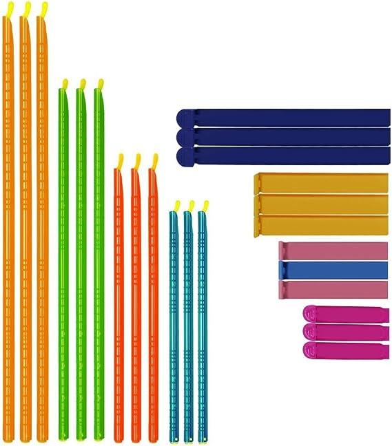 Clip de Sellado Pl/ástico 2 Tama/ños, 3 Colores Tyelany Pinzas Bolsas Alimentos Picnic Mant/éngalo Fresco y Evite el Olor 15 Piezas Clips de Sellado de Bolsas para Hogar Viajes Oficina Camping