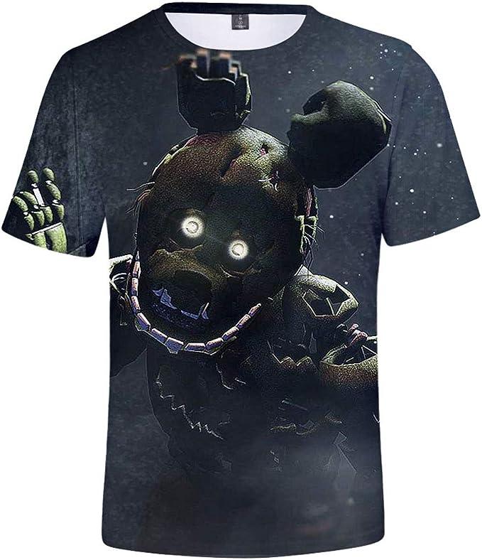 CTOOO T Shirt Imprimé Five Nights at Freddy Homme Ado 2XS 4XL