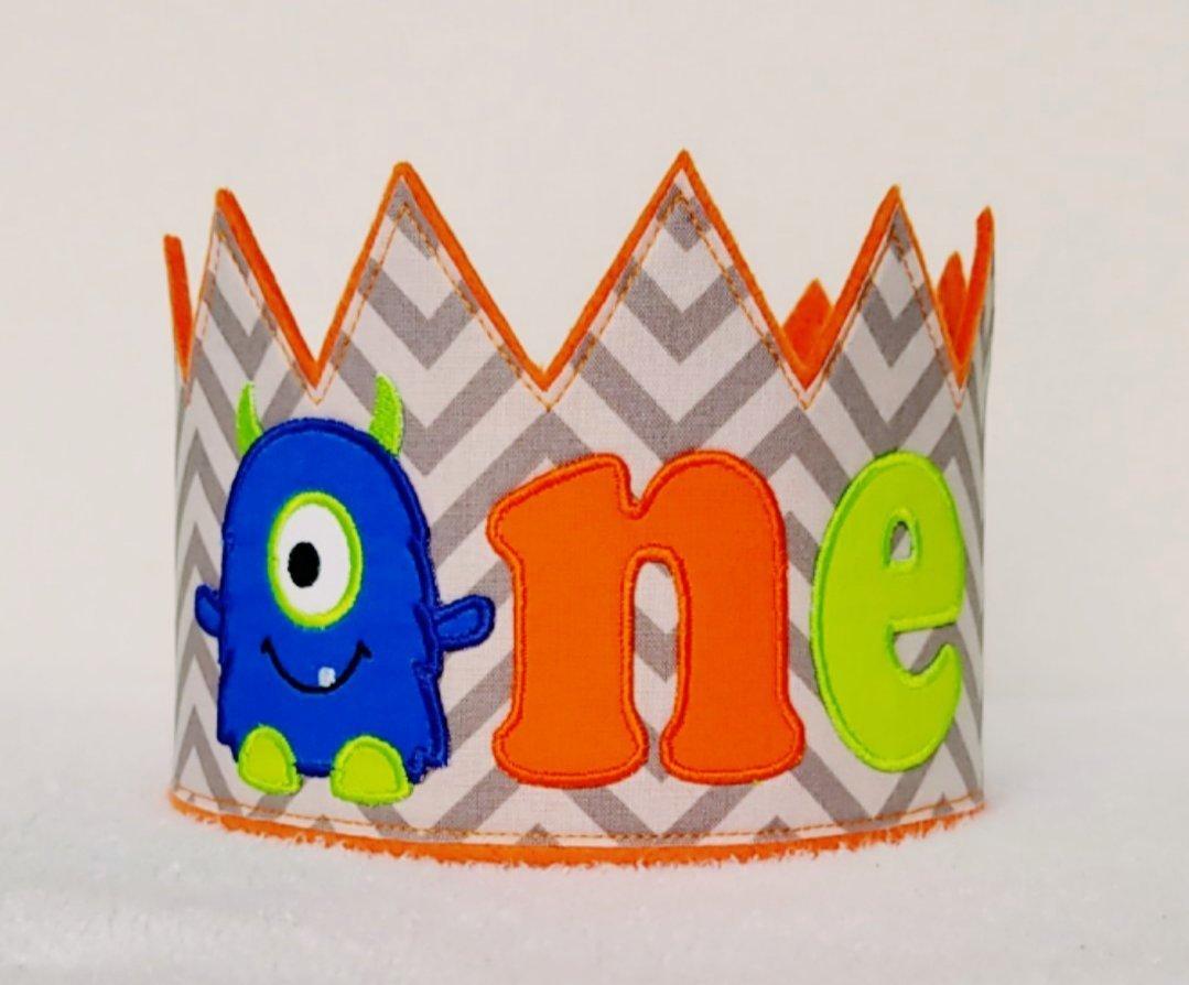 ONE Monster 1st Birthday Crown