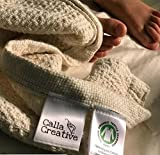 Calla Creative 100% Organic Cotton Large Swaddle Baby Blanket will help your Toddler Sleep Naturally and Chemical Free, Great Shower Gift, unisex girls boys Oversized 50'' x 60''