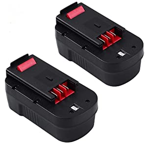 [Upgraded to 3600mAh] 3.6Ah Ni-Mh Replace for Black and Decker 18V Battery HPB18 HPB18-OPE 244760-00 A1718 FS18FL FSB18 Firestorm Batteries 2 Packs
