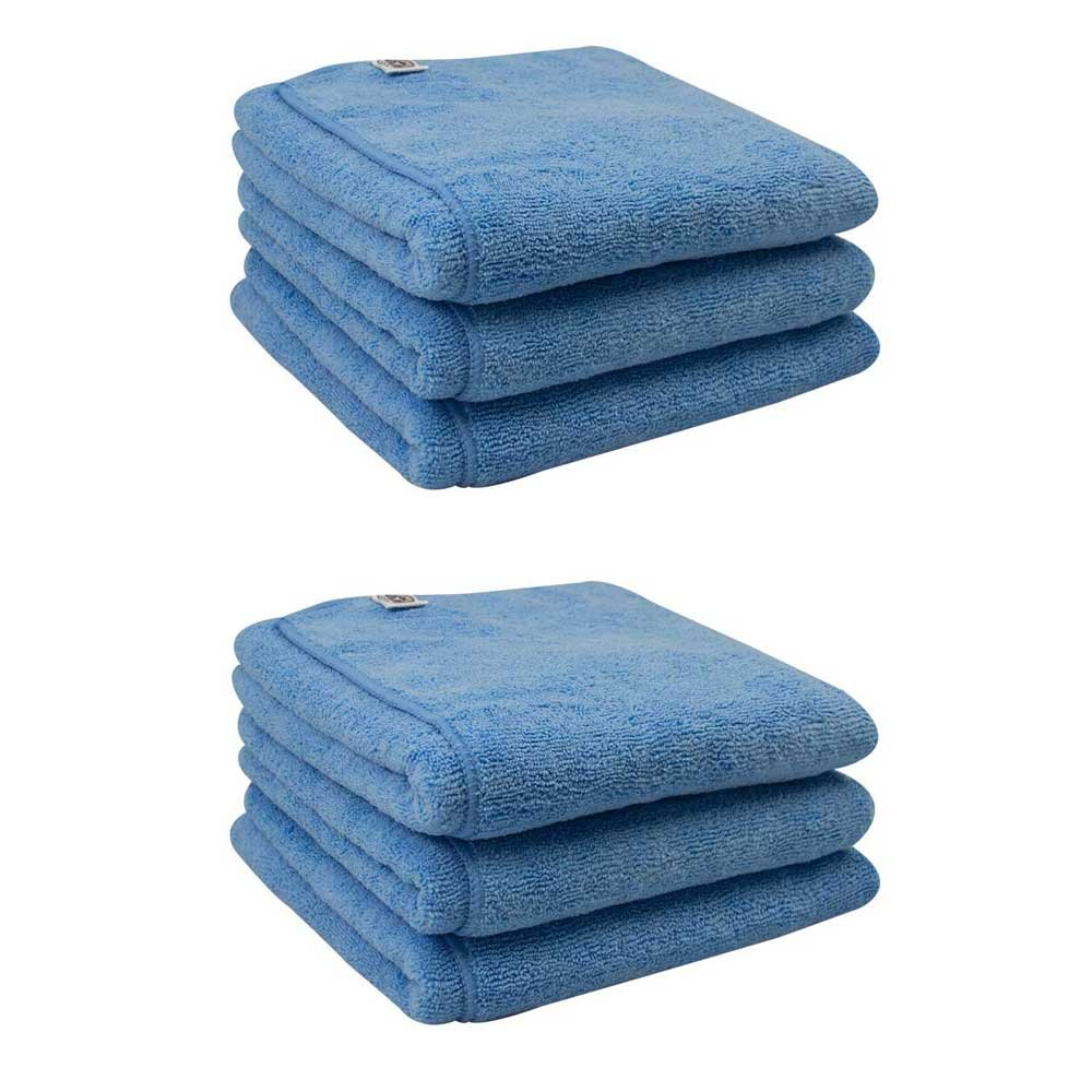 Chemical Guys MIC36306 Workhorse XL Blue Professional Grade Microfiber Towel, Windows (24 in. x 16 in.) (Pack of 6)