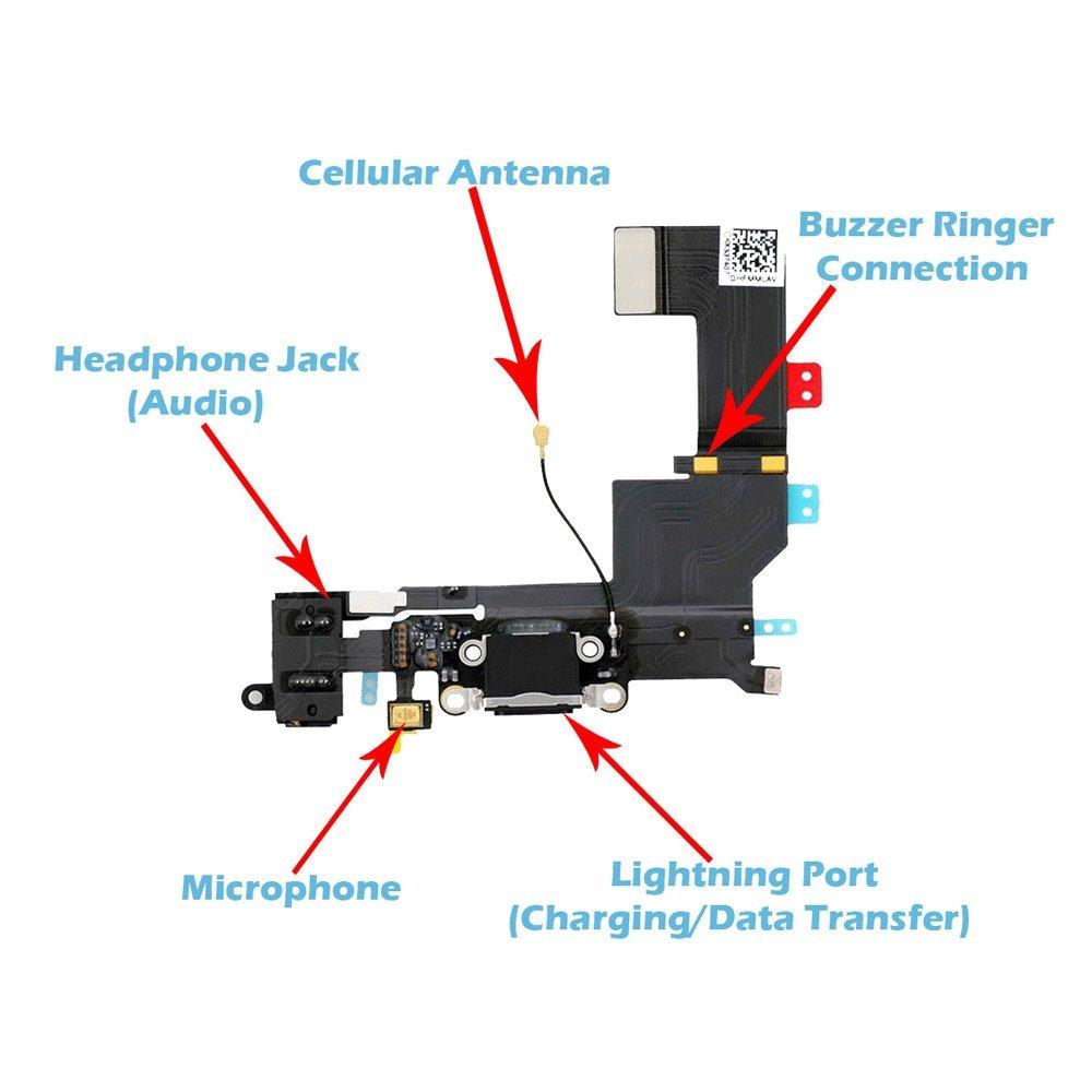 Unifix Charging Port Dock Connector Headphone Jack Mic Wiring Diagram Electronics
