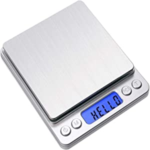 Digital Food Kitchen Scale, Weight Grams and Oz for Cooking Baking,1g/0.1oz Precise Graduation(3000g/0.1g,Silver)