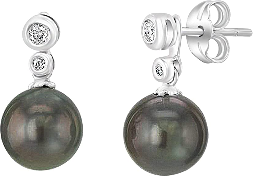 Ultra Luster 14K White Gold 15.5 mm Huge Size Tahitian Cultured Pearl Pendant Only Mother/'s day gifts for her with Luxury Jewelry Box