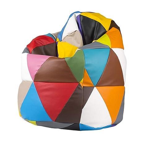 Pouf Poltrone Sacco Design.Pouf Patchwork Poltrona Sacco Multicolore Puff Design Arredo