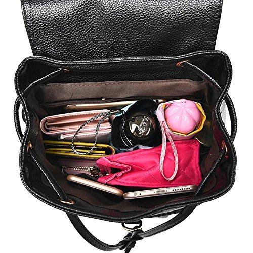 Sac Mode M013UK main épaule Black1 PU Messenger Élégant à Sac à Sac Femme dos 557rgaq