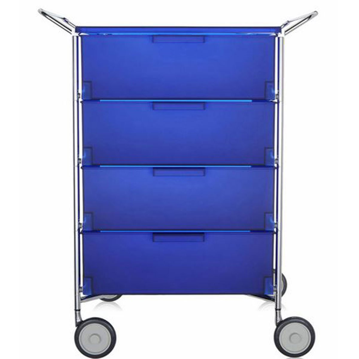 Kartell 2334L2 Container Mobil, 4 Schubladen, kobaltblau
