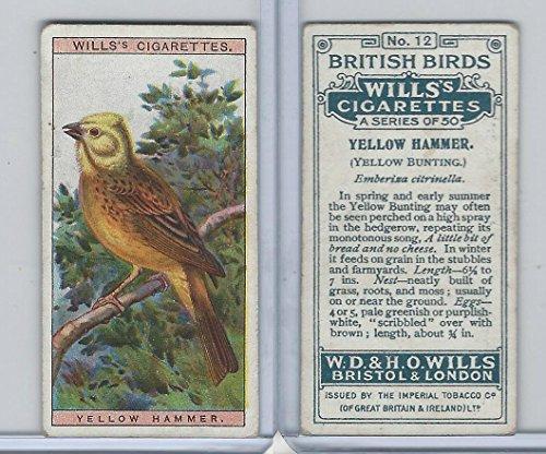 W62-71 Wills, British Birds, 1915, 12 Yellow Hammer