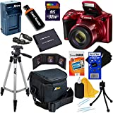 Canon Powershot SX420 IS 20 MP Wi-Fi Digital Camera with 42x Zoom, Red (International Version) + NB-11L Battery & AC/DC Battery Charger + 9pc 32GB Deluxe Accessory Kit w/ HeroFiber Ultra Gentle Cloth