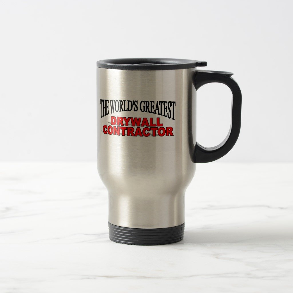 Zazzle The World's Greatest Drywall Contractor Two-tone Coffee Mug, Stainless Steel Travel/Commuter Mug 15 oz