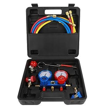 Adapta al R134a Conjunto de medidor de refrigerante de aire acondicionado con 1,5 m