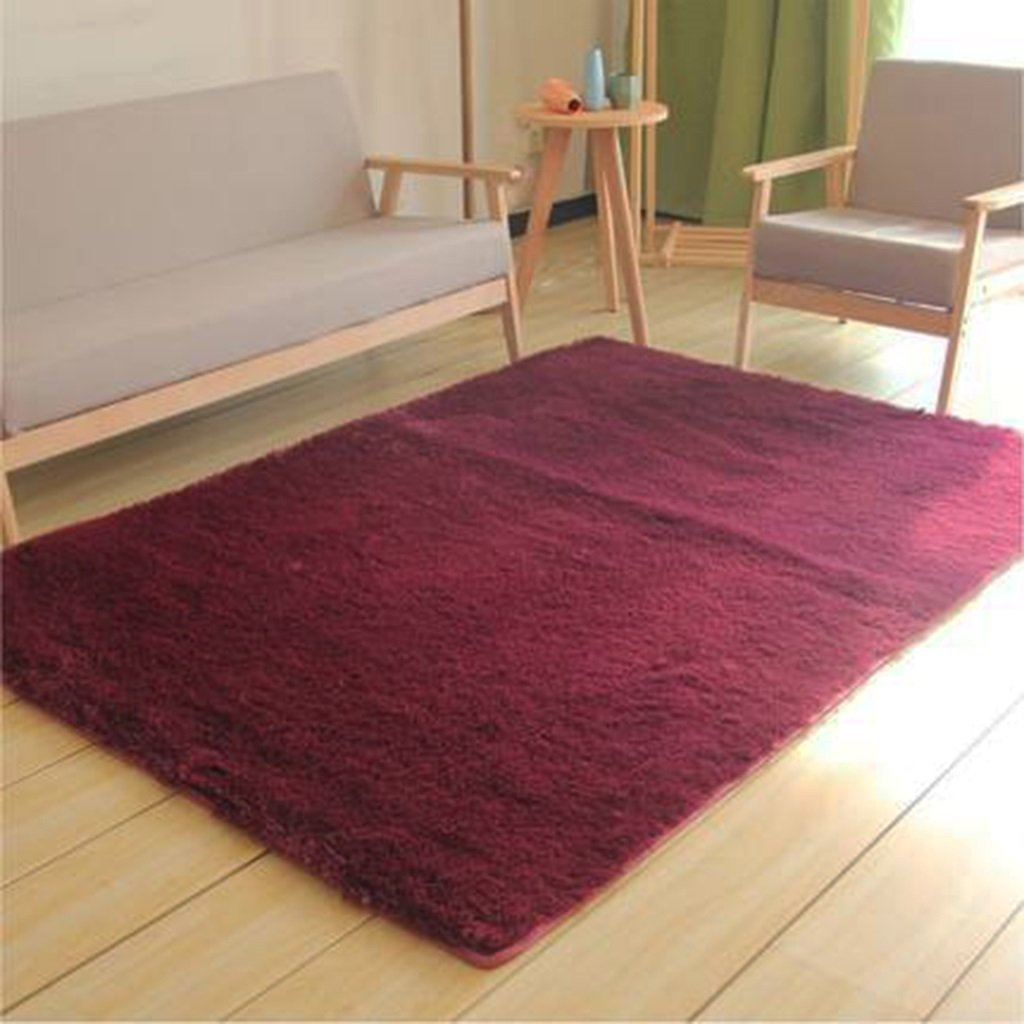 Teppich Wohnzimmer Vlies Modern Schlafzimmer Couchtisch Sofa Zimmer Nachttisch Heimteppich Pastoralen Stil (Farbe : A , Größe : 140  200cm)