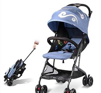 QQB &Carro Plegable Carro de bebé Ligero Plegable/Cochecito de bebé Ultraligero y pequeño portátil