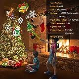 LED Christmas Lights Projector, Handheld Indoor