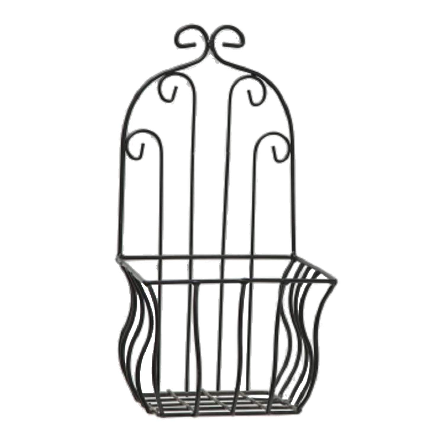 Home Collection Home Decoration Accessories Garden Terrace Set of 2 Plant Holders Black Wrought Iron