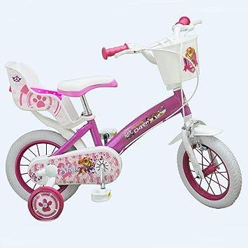 Bicicleta oficial La Pat Patrulla 12 pulgadas Disney niña chica ...