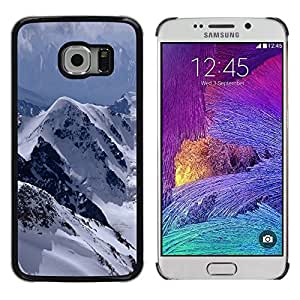 Shell-Star Arte & diseño plástico duro Fundas Cover Cubre Hard Case Cover para Samsung Galaxy S6 EDGE / SM-G925 / SM-G925A / SM-G925T / SM-G925F / SM-G925I ( The Mountains Snowy Alps )