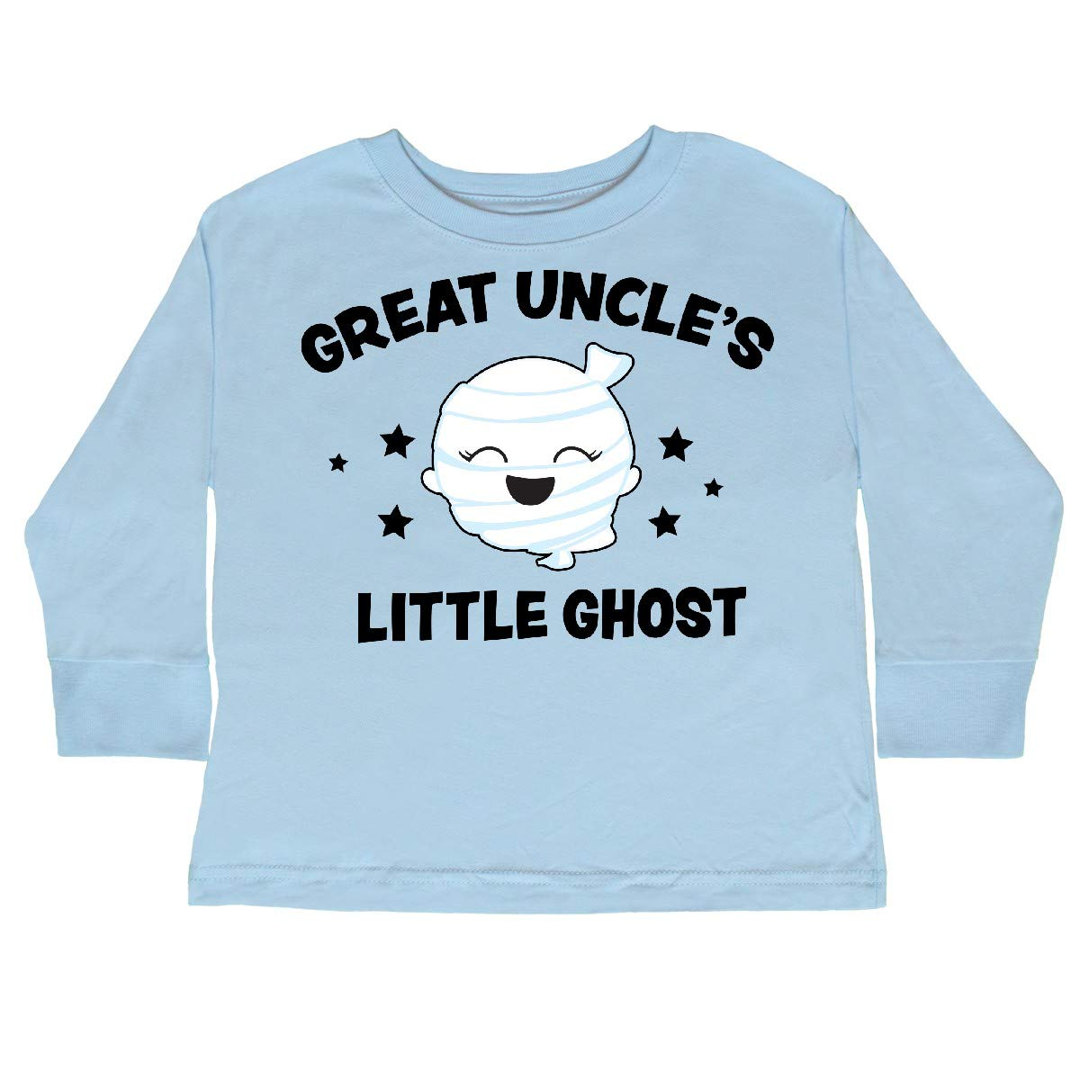 inktastic Cute Great Uncles Little Ghost with Stars Toddler Long Sleeve T-Shirt