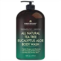 ALL Natural Tea Tree Body Wash - Fights Body Odor, Athlete's Foot, Jock Itch, Nail Issues, Dandruff, Acne, Eczema, Yeast…