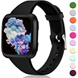 Hamile Bands Compatible for Fitbit Versa/SE/Lite, Slim Narrow Soft Silicone Watch Band Replacement Strap Wristbands for Fitbit Versa/Versa Lite Special Edition Smart Watch, Women Men