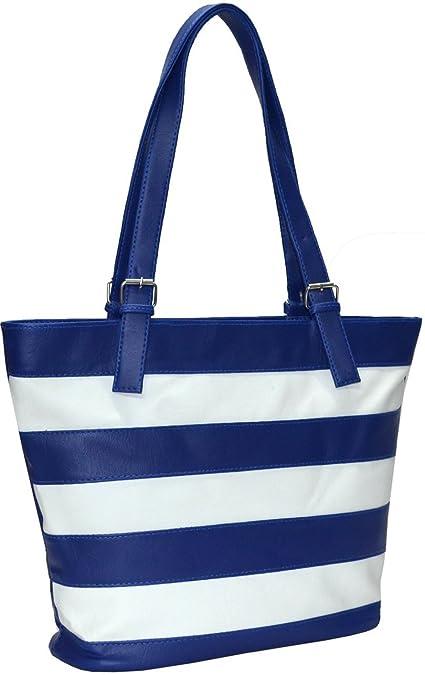 334fbb53fd Utsukushii Women s Handbag (Blue White) (BG518A)  Amazon.in  Shoes ...