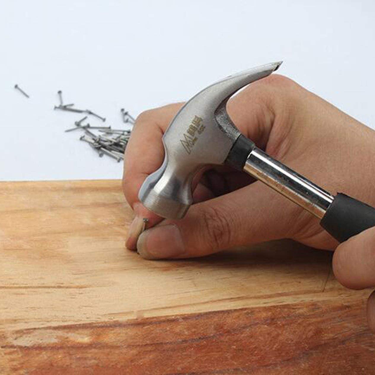 mini marteau marteau en caoutchouc Manche en plastique /à t/ête ronde Marteau magn/étique /à griffes Pour le travail du bois et les outils /électroniques jaune et noir; BCVBFGCXVB