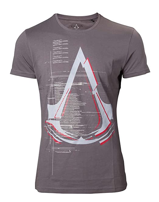 Assassins Creed T-Shirt Legendary Crest Logo Grey-XXL