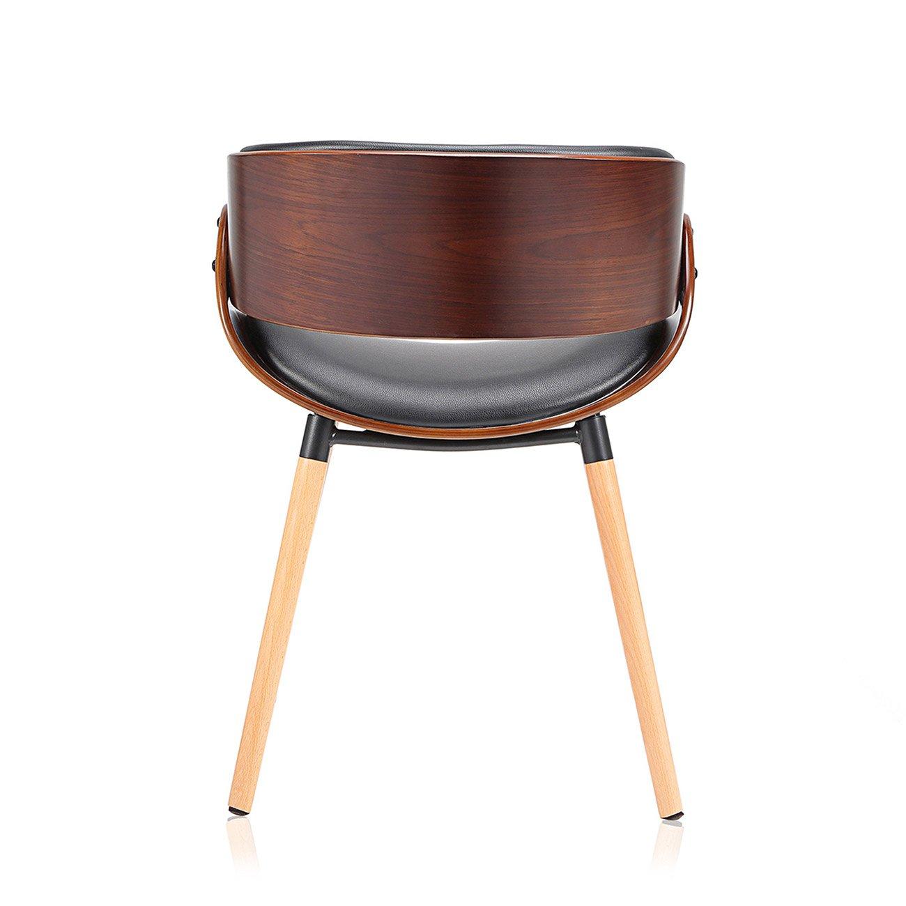 Makika Design Stuhl Retro Burostuhl Vintage Hocker Kunstleder